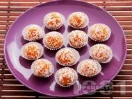 Бързи постни морковени бонбони с орехи, канела и кокос за десерт